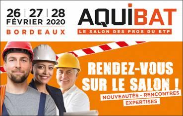 Rendez-vous à AQUIBAT 2020