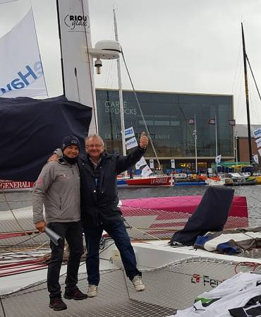 RIOU Glass soutient le trimaran FenêtréA-Mix Buffet