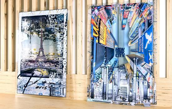RIOU Glass en collaboration avec Rubix Wall Art